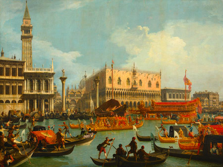 CANALETTO - Il ritorno del Bucintoro al molo davanti a Palazzo Ducale - 3CA3055