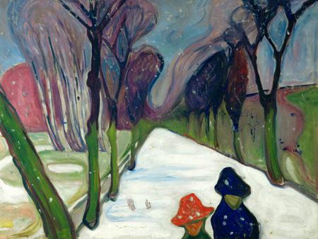 EDVARD MUNCH - Avenue in the snow - 3EU3017