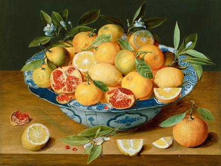 JACOB VAN HULSDONCK - Still life with Lemons, Oranges and a Pomegranate - 3AA2723