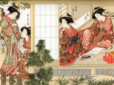 KATSUKAWA SHUNSHO - Japanese Beauties, 1776 - 3JP598
