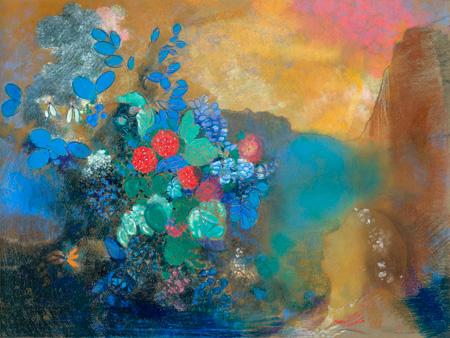 ODILON REDON - Ophelia among the flowers - 3AA2689