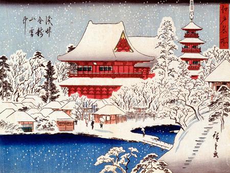 KATSUSHIKA HOKUSAI - Paysage sous la neige - 3HK1617